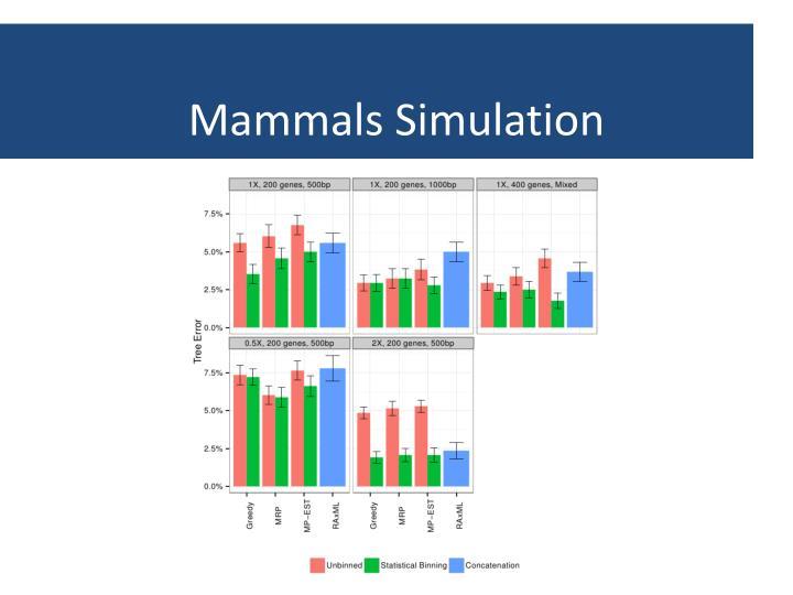 Mammals Simulation