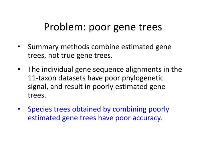 Problem: poor gene trees