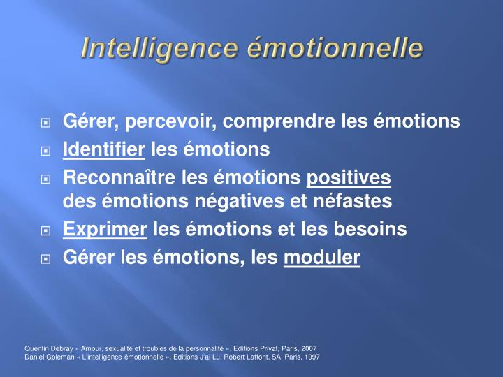 Intelligence émotionnelle