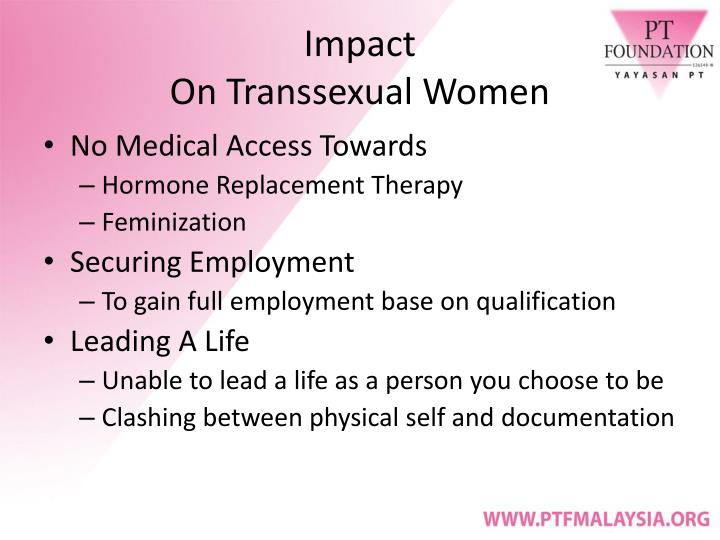 Impact on transsexual women
