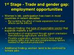 1 st stage trade and gender gap employment opportunities