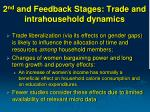 2 nd and feedback stages trade and intrahousehold dynamics
