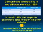 consuelo and aminata live in two different contexts 1995