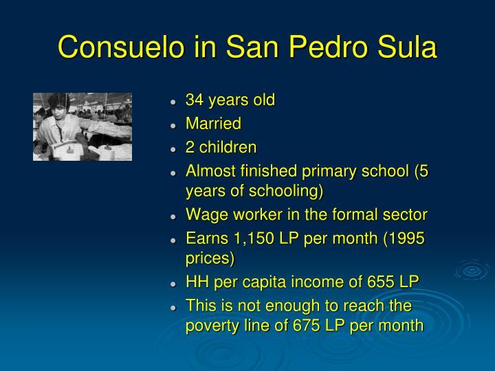 Consuelo in San Pedro Sula