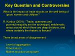 key question and controversies