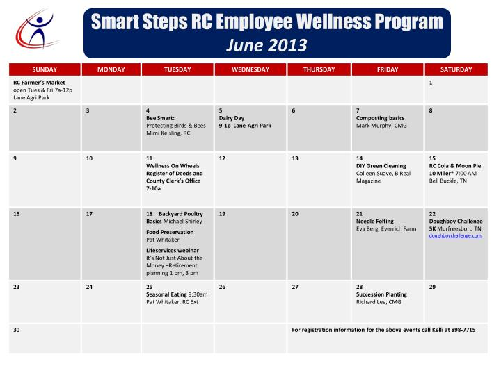 Smart steps rc employee wellness program june 2013