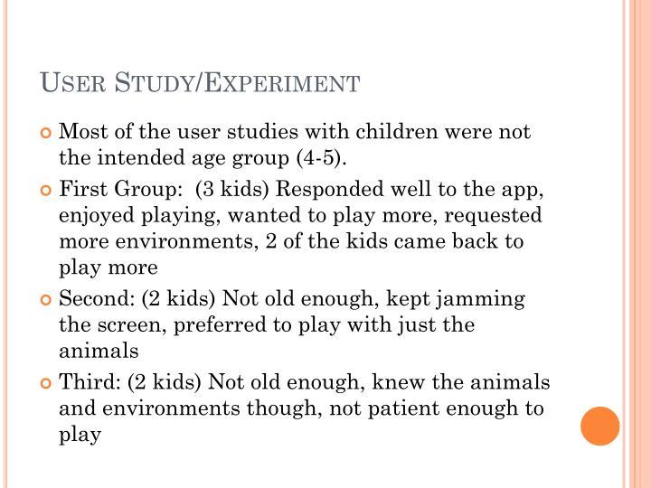 User Study/Experiment