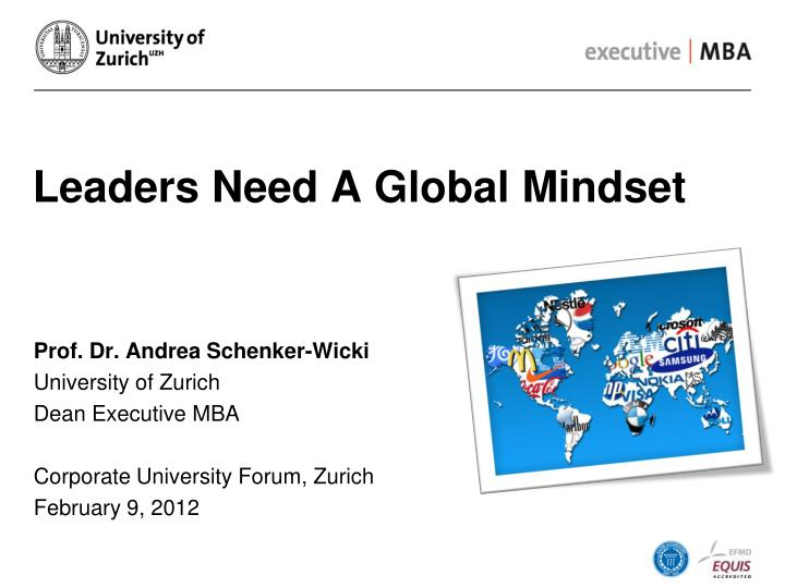 Leaders need a global mindset