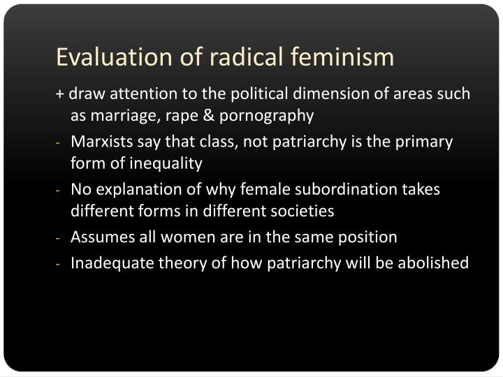 Evaluation of radical feminism