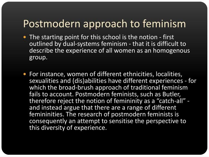 Postmodern approach to feminism