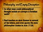 philosophy and empty deception1