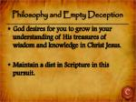 philosophy and empty deception3