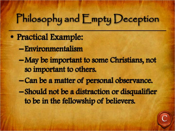 Philosophy and Empty Deception