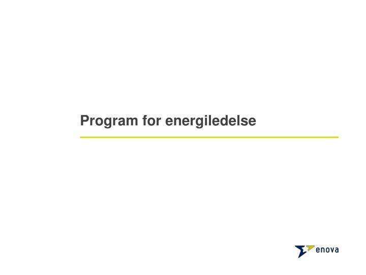 Program for energiledelse