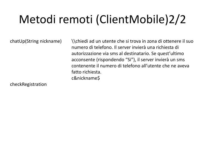 Metodi remoti (