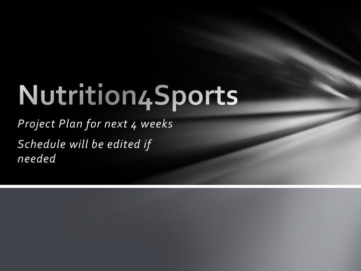 nutrition4sports