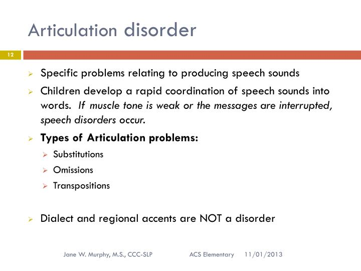 speech disorders in children Information about speech disorder causes, reasons for concern and treatment, provided by cincinnati children's hospital medical center.
