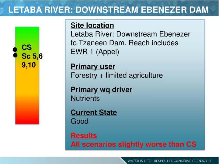 LETABA RIVER: DOWNSTREAM EBENEZER DAM