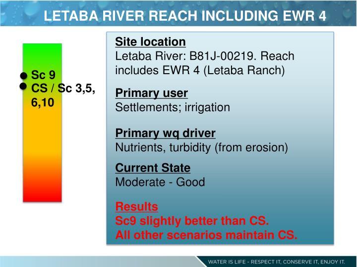 LETABA RIVER REACH INCLUDING EWR
