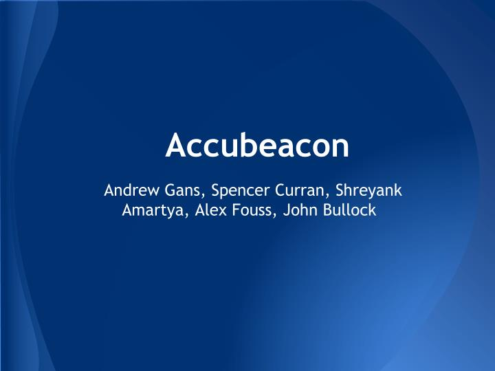 Accubeacon