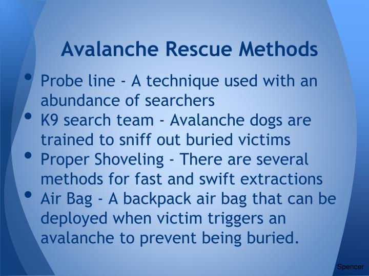 Avalanche Rescue Methods
