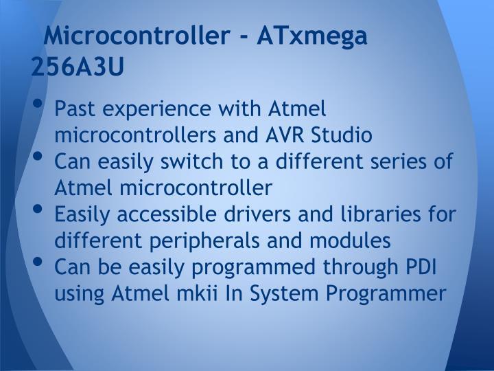 Microcontroller - ATxmega 256A3U