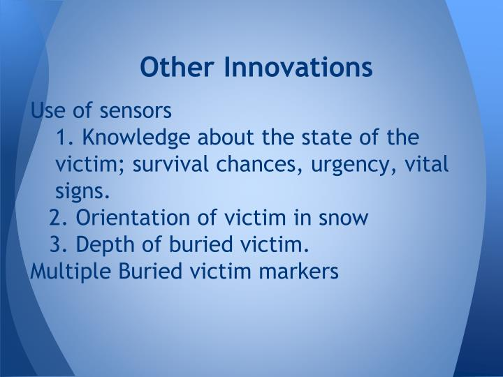 Other Innovations