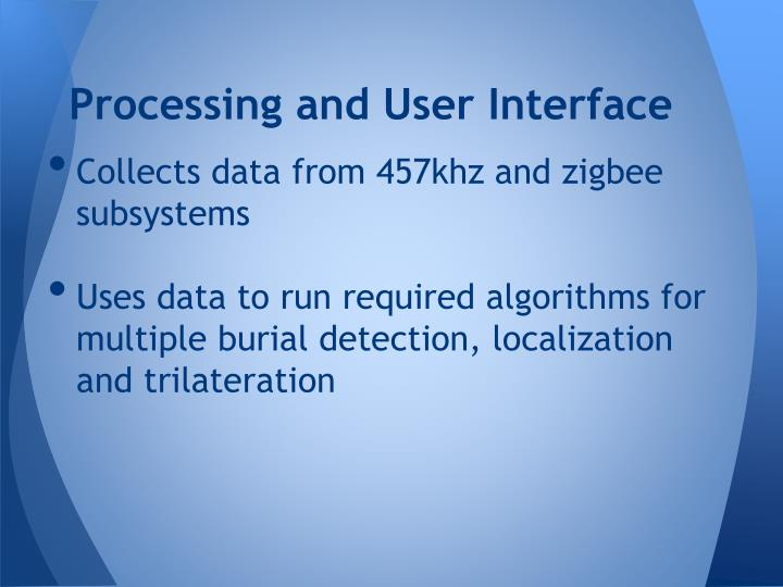 Processing and User Interface