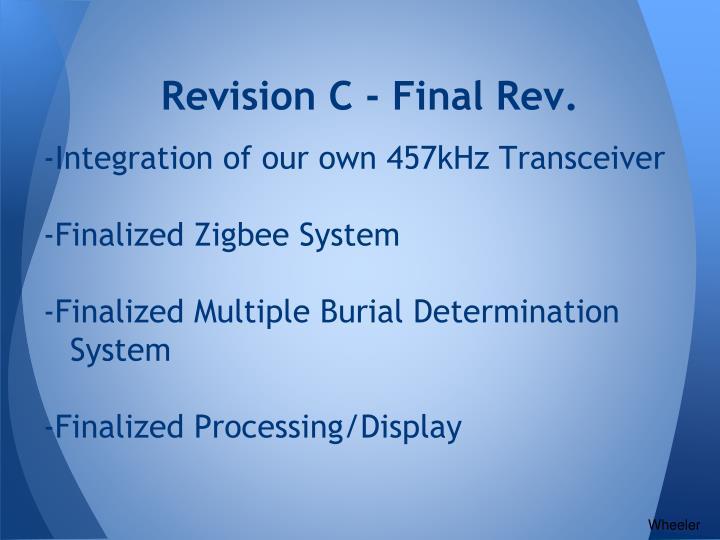 Revision C - Final Rev.