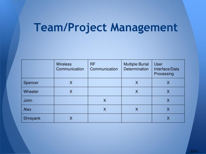 Team/Project Management