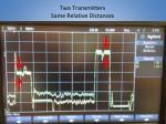 two transmitters same relative distances