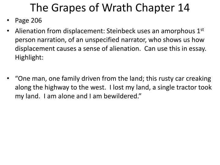 The Grapes of Wrath Chapter 14