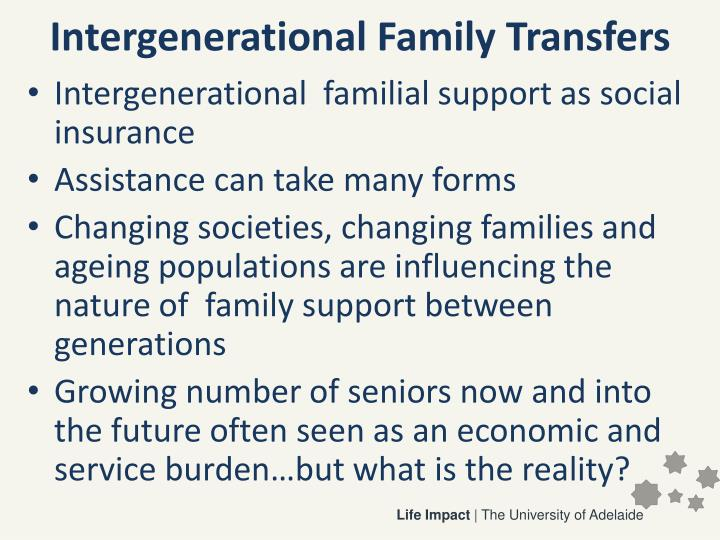 Intergenerational family transfers