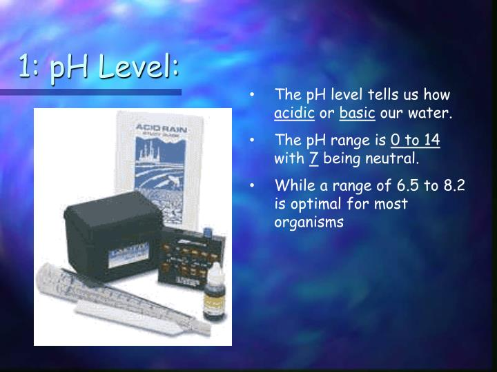 1: pH Level:
