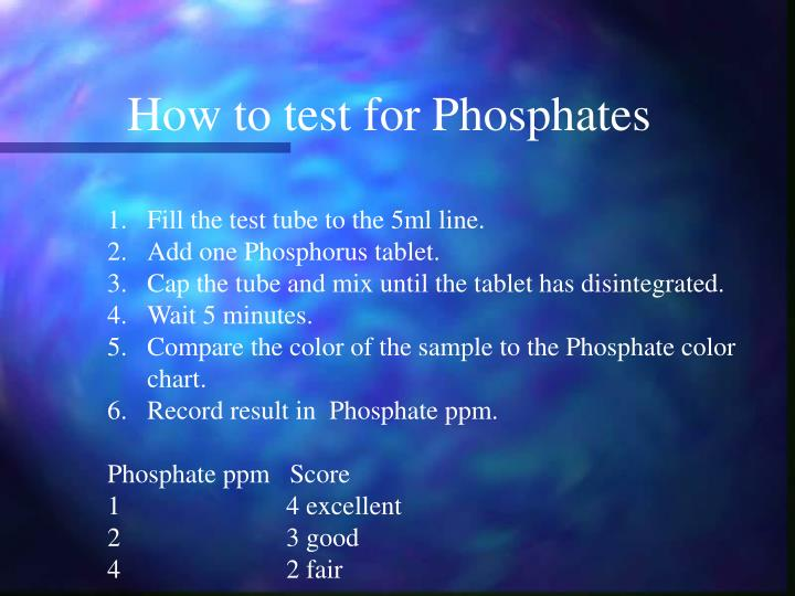 How to test for Phosphates