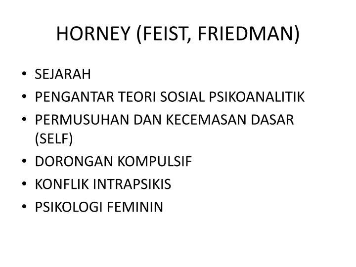 HORNEY (FEIST, FRIEDMAN)