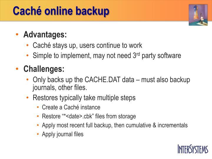 Caché online backup