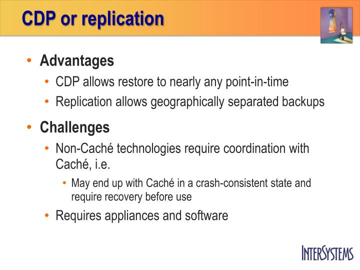 CDP or replication