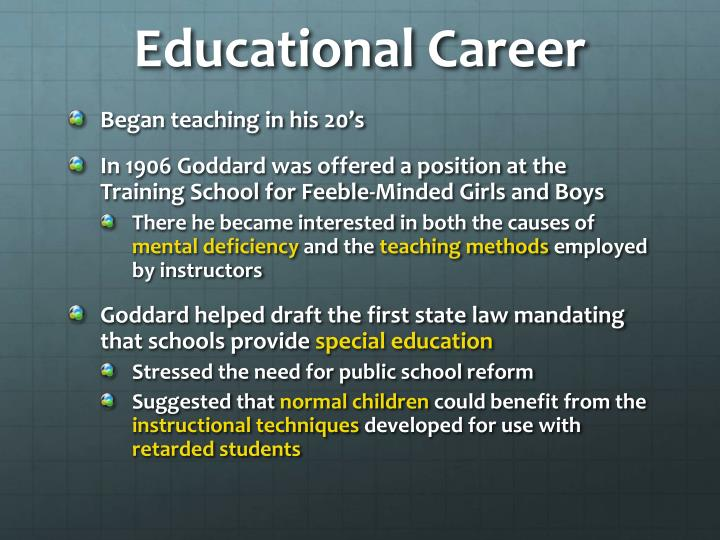 Educational Career