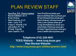 plan review staff