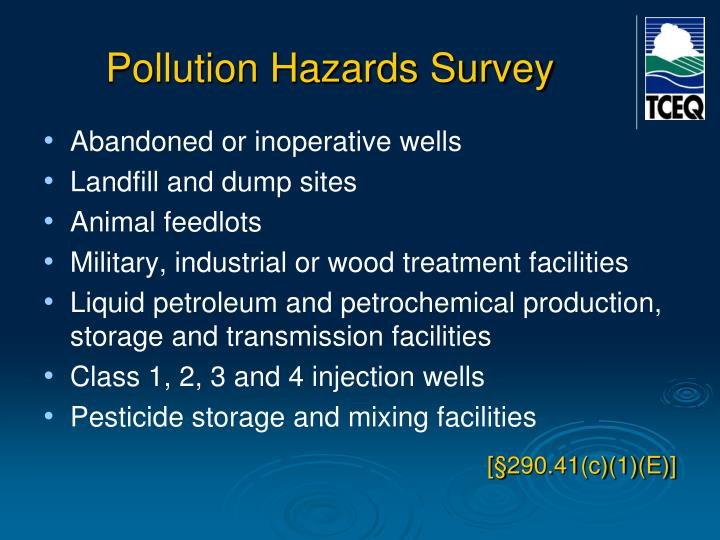Pollution Hazards Survey