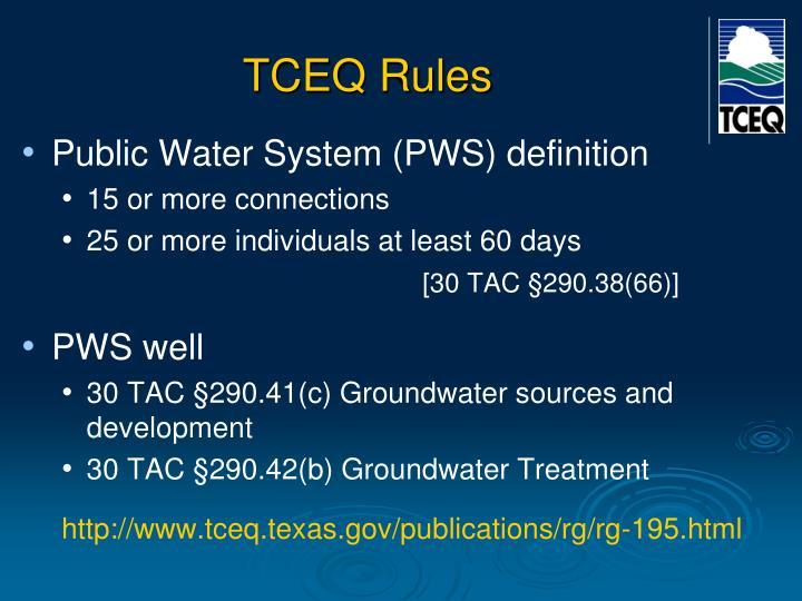 TCEQ Rules