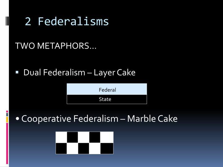 2 Federalisms