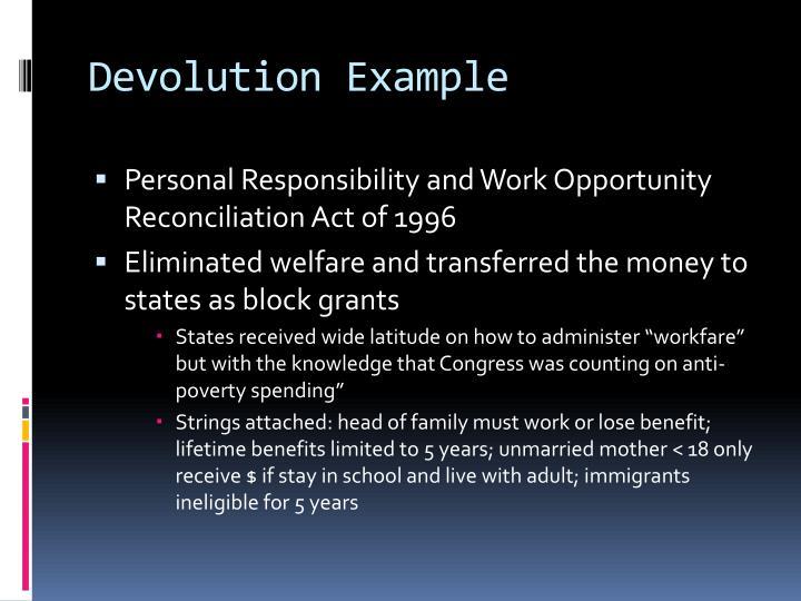 Devolution Example