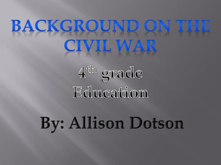 Background on the civil war