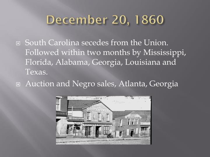 December 20, 1860