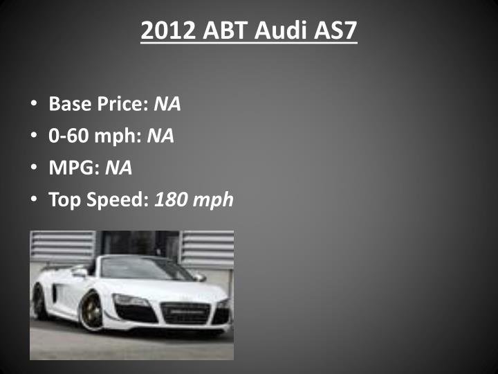 2012 ABT Audi AS7