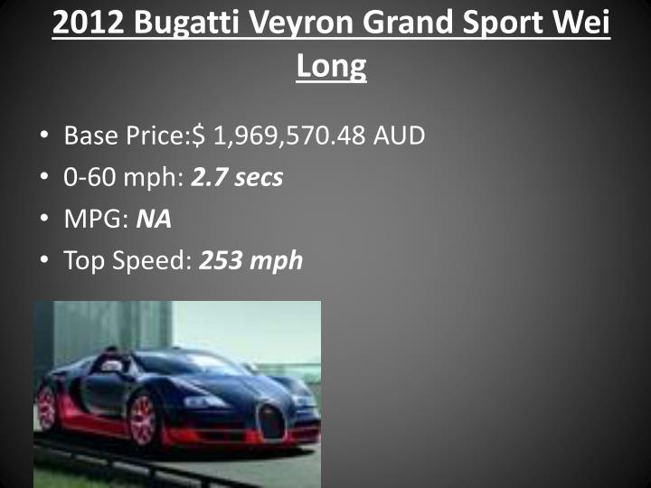 2012 Bugatti Veyron Grand Sport Wei Long