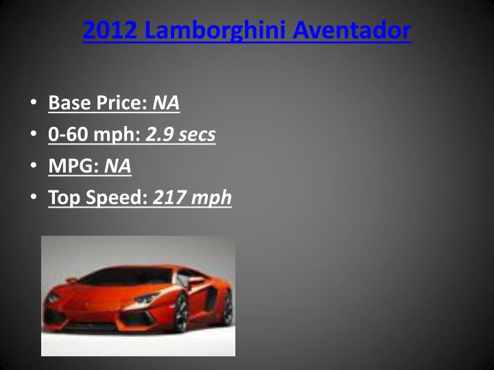 2012 Lamborghini