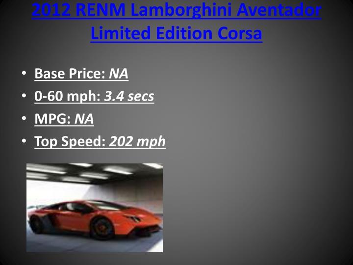 2012 RENM Lamborghini